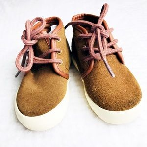 Toddler boys Polo RL brown suede lace up boots Sz5